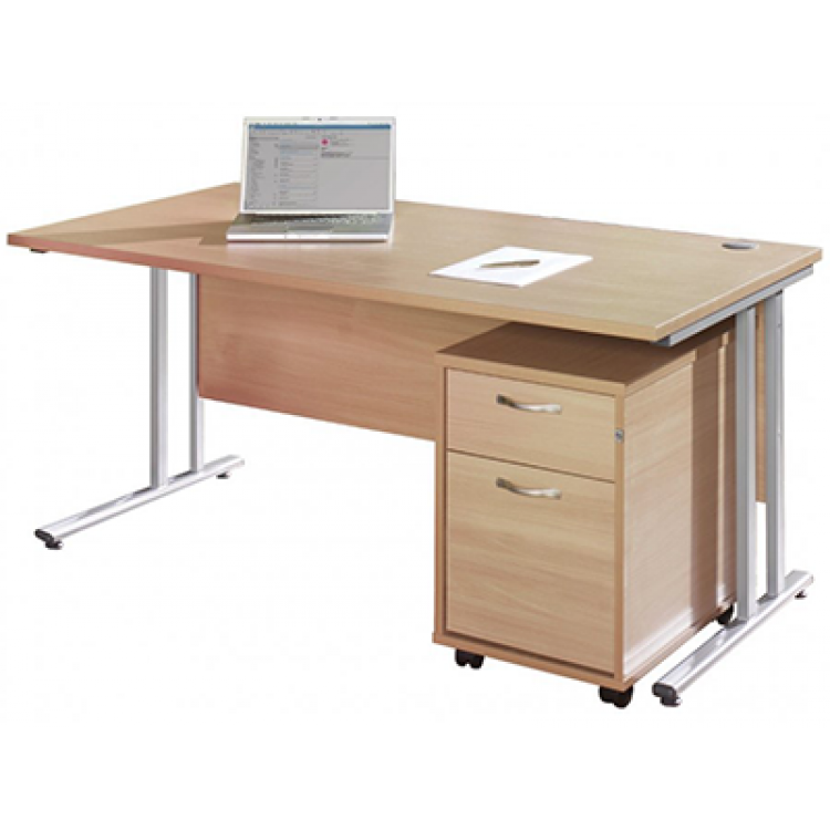 Straight Desk with Pedestals