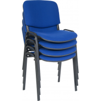 Ice Fabric Stacking Meeting Chairs - Black or Chrome Frame