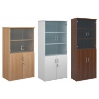 Infinite Combination Unit with Glass Doors -4, 5 or 6 Shelf