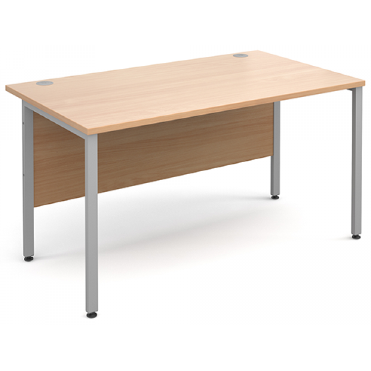 H Frame Straight Desks