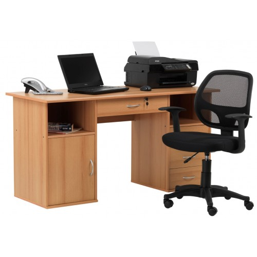 Dallas Beech Effect Home Office Desk : Dallas3 500x500 <strong>Staples</strong> Ergonomic Chairs from www.atlantisoffice.co.uk size 500 x 500 jpeg 23kB