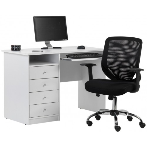 Marymount White Home Office Desk