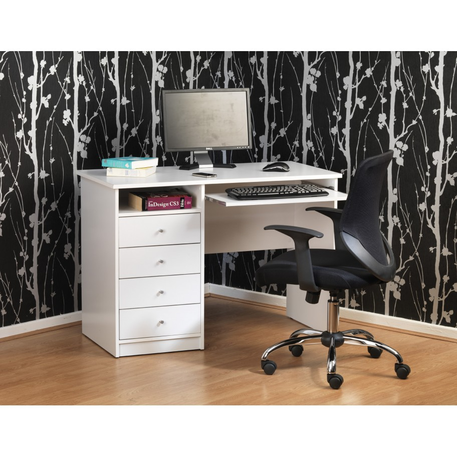 Marymount White Student Home Office Desk