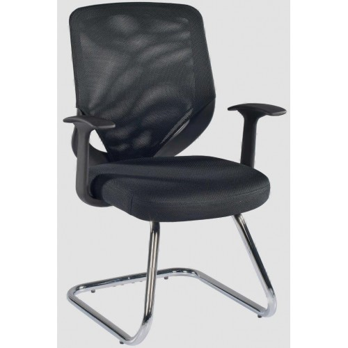 Atlanta Black Mesh Visitors Chair