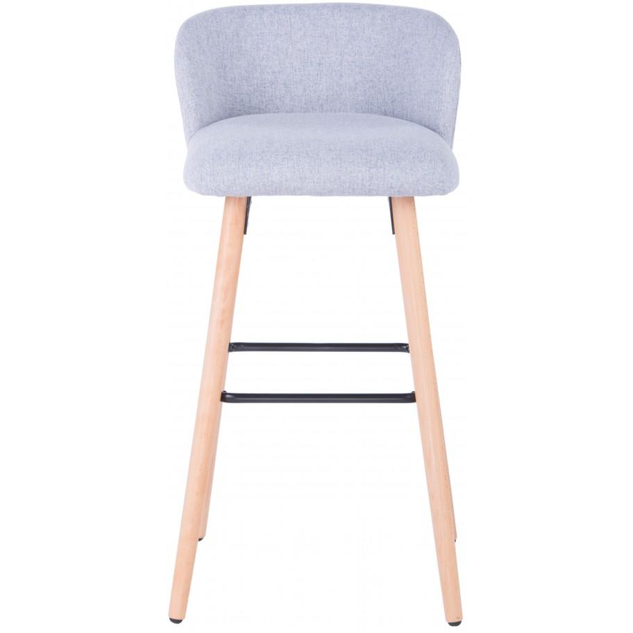 Admirable Claremont Grey Fabric Bar Stool Dailytribune Chair Design For Home Dailytribuneorg