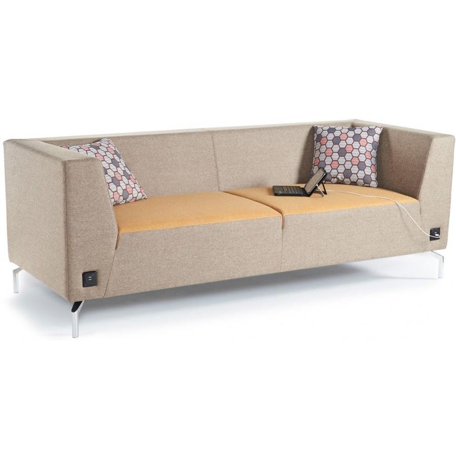Alban Low Back Three Seater Sofa