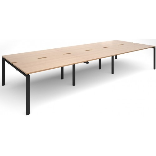 Adapt 1600mm Deep Sliding Top Triple Back to Back Bench Desk
