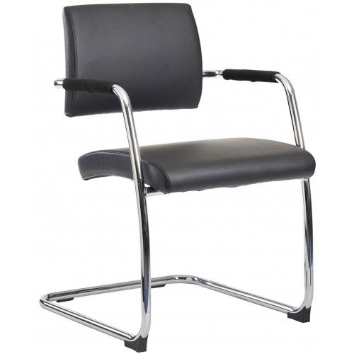 Bourne Leather Cantilever Chairs - PRICE FOR 2 CHAIRS