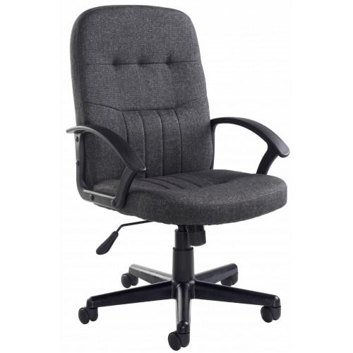 Cavalier Charcoal Fabric High Back Chair