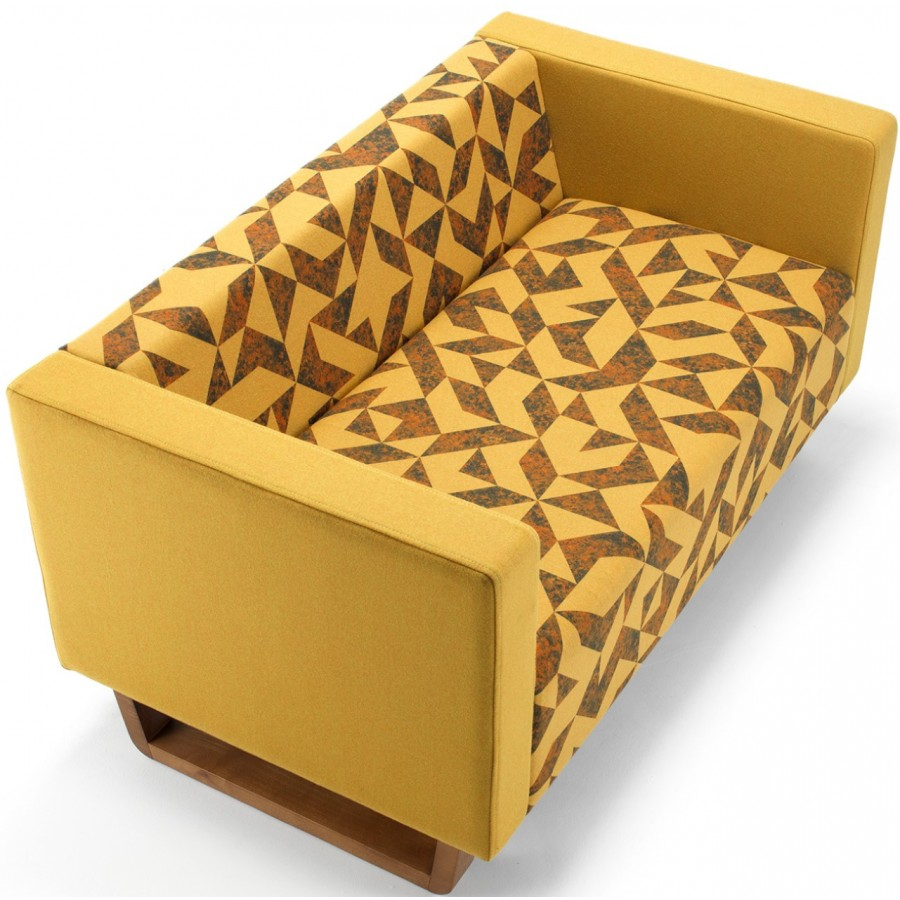 Cleo Two Seater Sofa With Wooden Feet