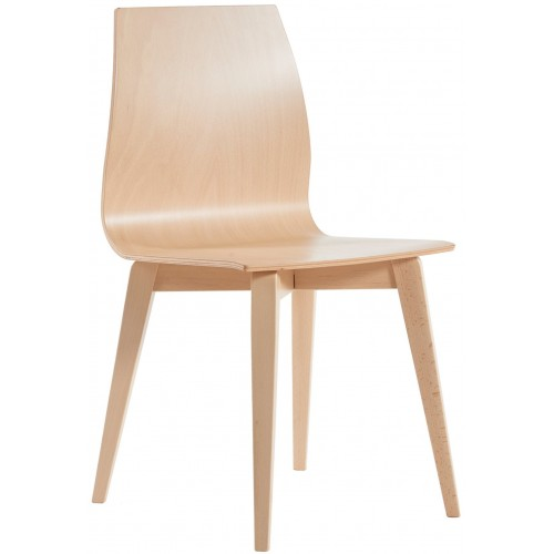 Drop Wooden Frame Bistro Cafe Chair