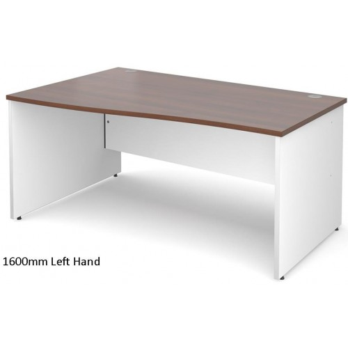 Duo White and Walnut Wave Office Desk