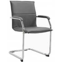 Higham Leather Cantilever Stackable Chair