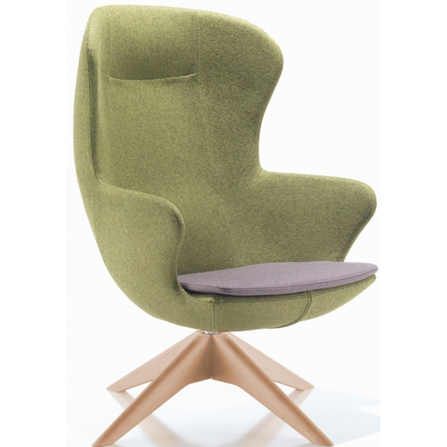 Figaro Single Seater Armchair With Wooden Base