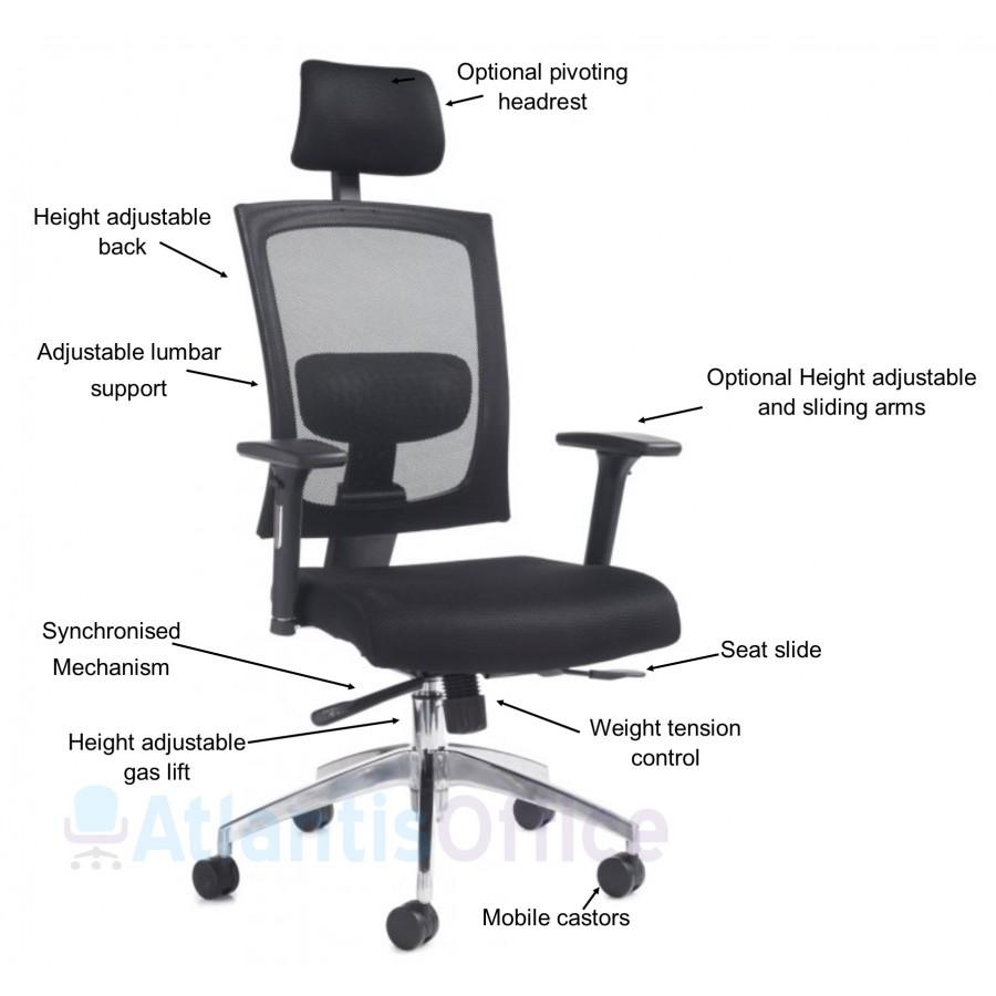 Gosport Mesh Ergonomic Office Chair