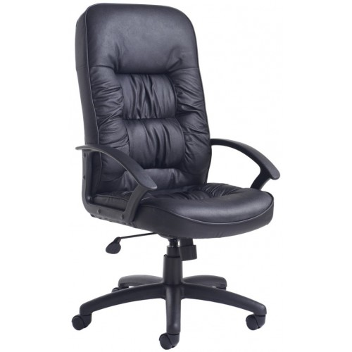 King Black Leather Executive Chair