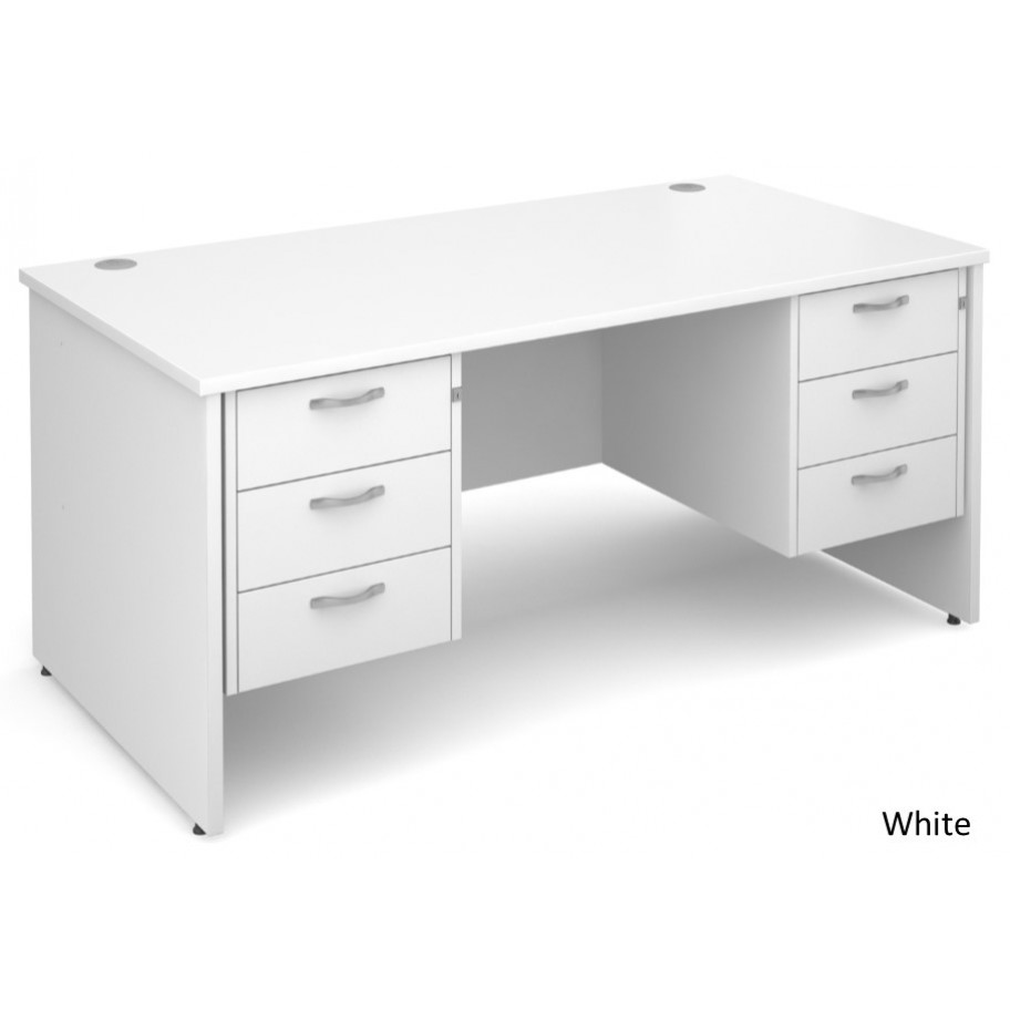 Maestro Panel End Straight Desk with 2 Pedestals