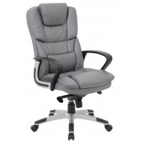 Portsmouth Leather Faced Executive Chair - Grey or Black