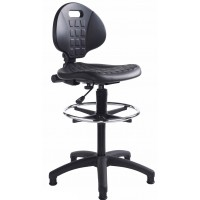 Prema Wipe Clean Industrial Draughtsman Chair