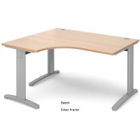 TR10 Deluxe 1400mm Left Hand Ergonomic Desk
