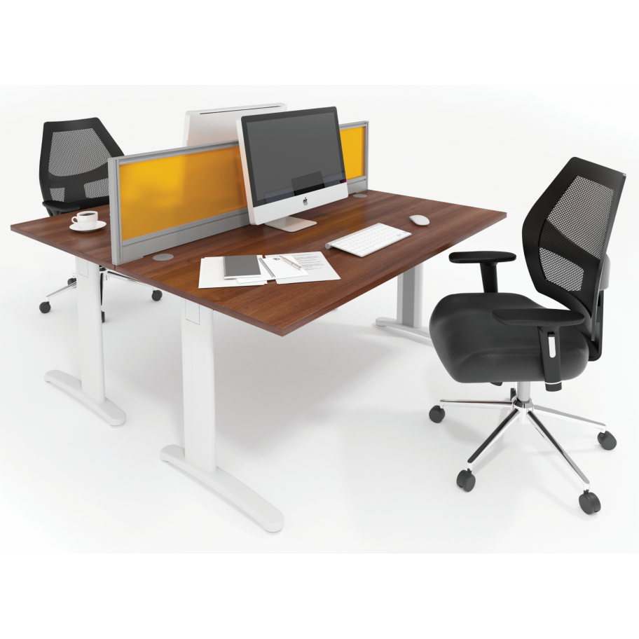 TR10 Ergonomic Corner Office Cable Managed Desk