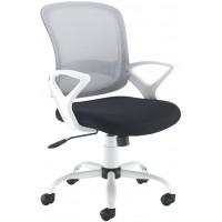 Tyler Mesh Back White Frame Operator Chair