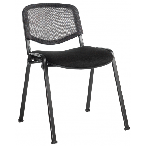 Taurus Black Mesh Conference Stacking Chair