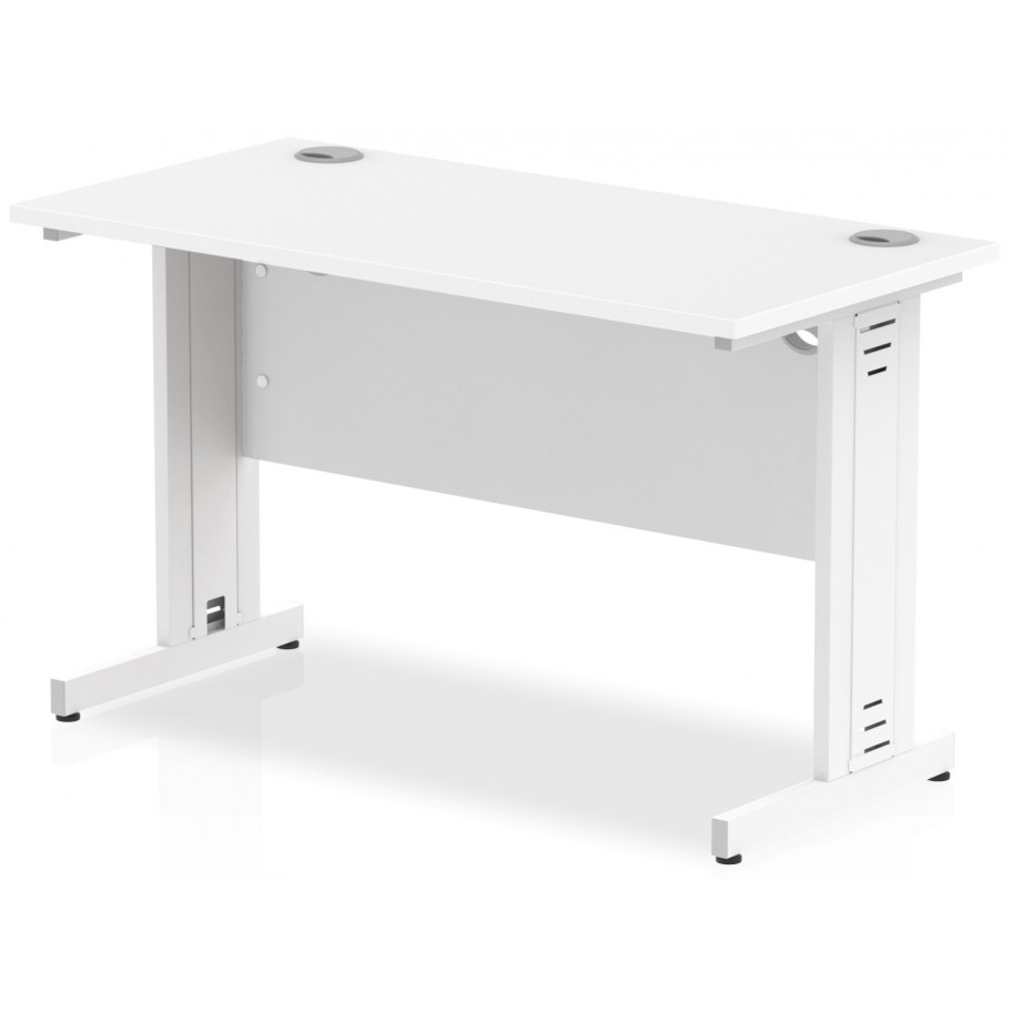 Rayleigh 600mm Deep Cable Managed Straight Office Desk