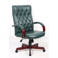 Chesham Green Traditional Leather Office Chair