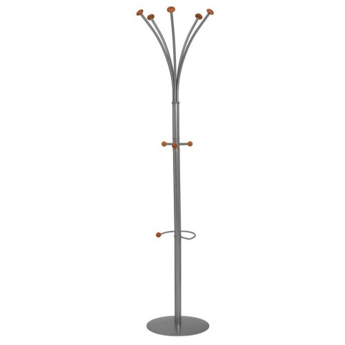 City Classic Silver Steel Office Coat Stand