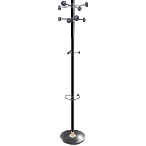 City Black Office Coat Stand