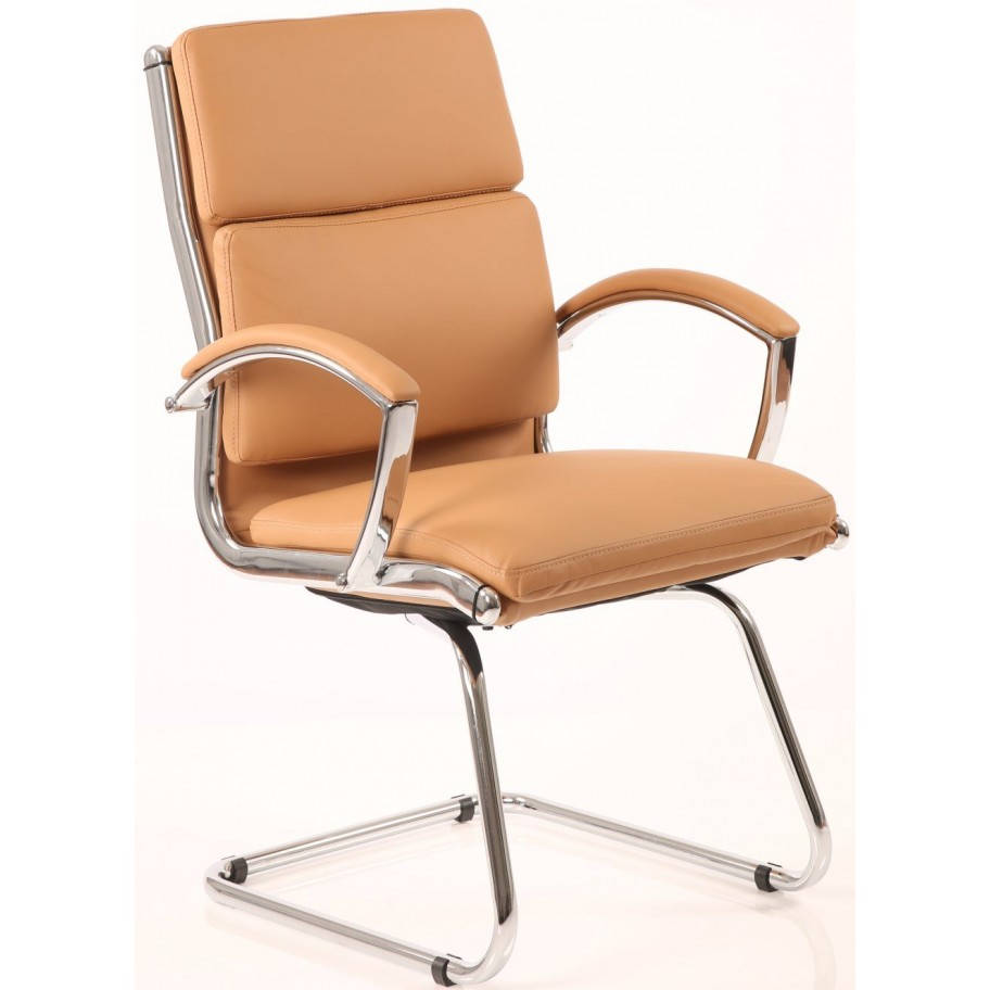 Classic Leather Cantilever Chair