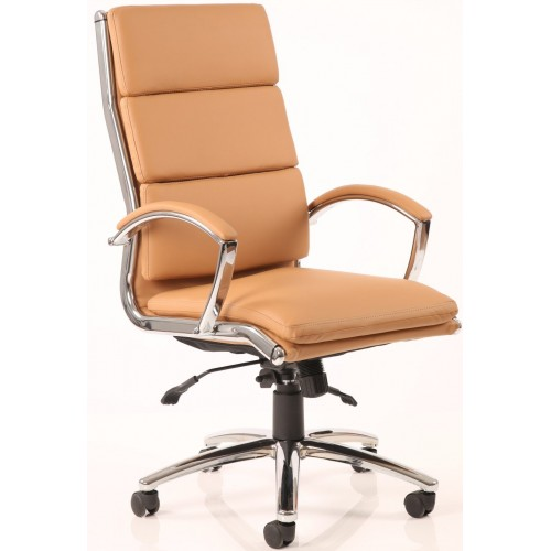 Classic High Back Leather Chair
