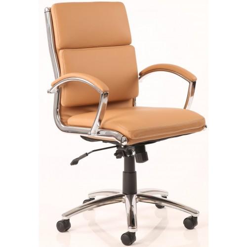Classic Medium Back Leather Chair