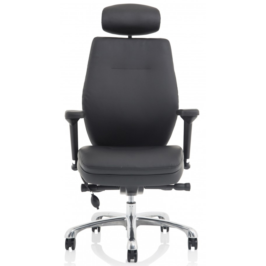 Ely Leather Ergonomic Posture Office Chair
