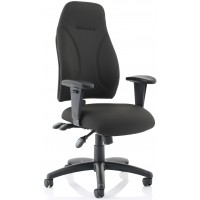 Erie Black Fabric Task Ergonomic Office Chair