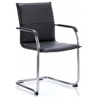 Eccles Leather Cantilever Chair - RED, WHITE OR BLACK