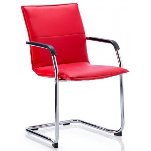 Eccles Leather Cantilever Chair