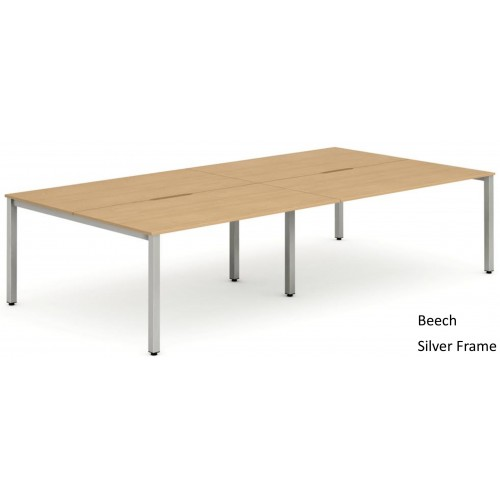 Evolve Four Pod Bench Desk Set