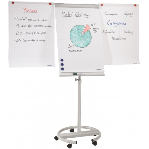 Franken Standard Mobile Flipchart with Extensions