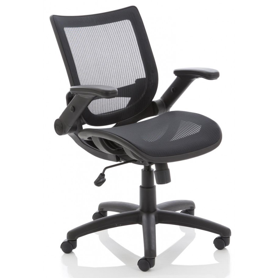 Fuller Mesh Operator Chair With Folding Arms