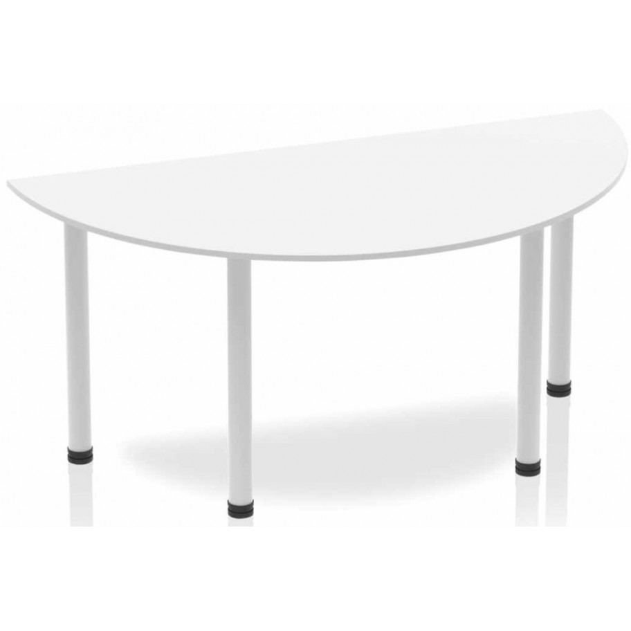 Rayleigh Post Leg Semi Circle Table