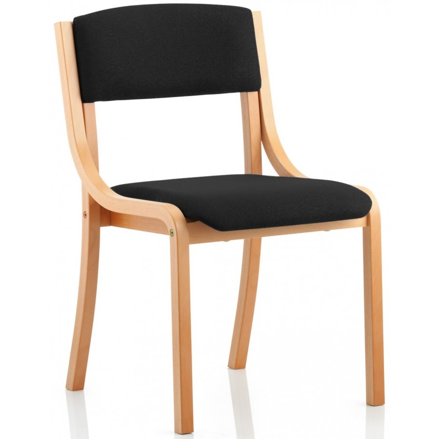 Madrid Wood Frame Fabric Visitor Chair