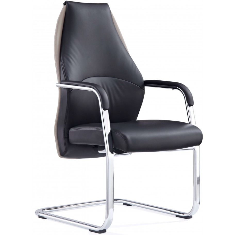 Mien Mink and Black Cantilever Chair