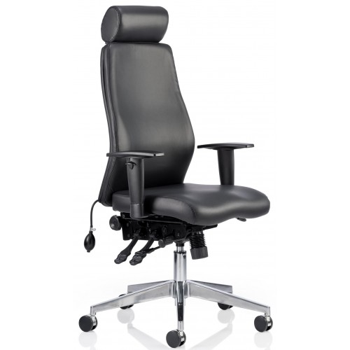 i-Curve Leather Chiropractor Posture Office Chair