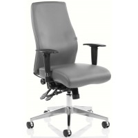 Chiro Curve 24 Hour Grey Leather Posture Office Chair