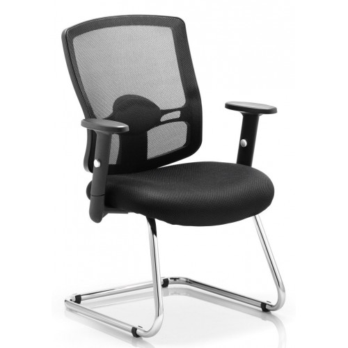 Portland Mesh Cantilever Chair