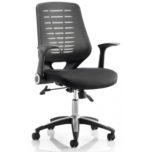 Reading Airmesh Office Chair With Folding Arms