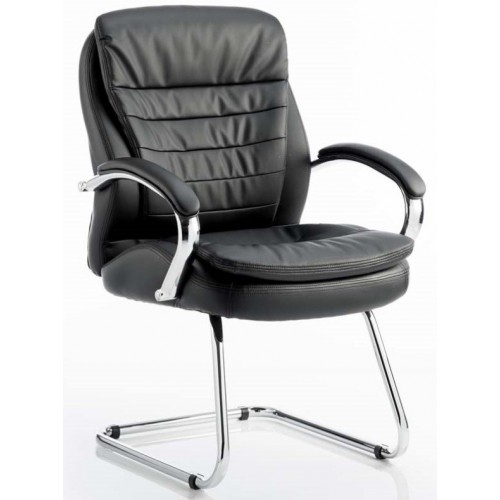 Rocky Leather Executive Cantilever Visitor Chair