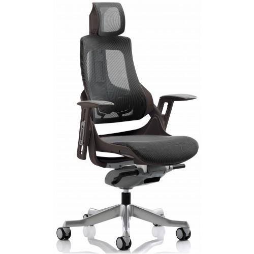 Zouch Black Frame Charcoal Mesh Ergonomic Office Chair
